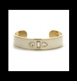 Souvenirs de Pomme Souvenirs de Pomme Sophia Cuff Enamel bracelet gold gray