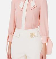 Elisabetta Franchi Elisabetta Franchi blouse met accenten roze