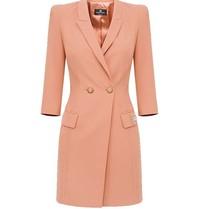 Elisabetta Franchi Elisabetta Franchi blazerjurk met logo roze