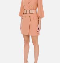 Elisabetta Franchi Elisabetta Franchi blazerjurk met ceintuur roze