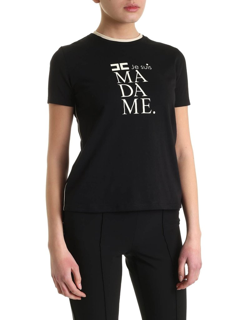 Elisabetta Franchi Elisabetta Franchi t-shirt met opdruk zwart