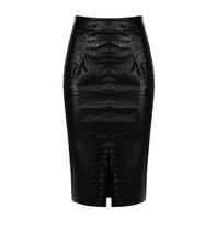 Rinascimento Rinascimento midi skirt with black split