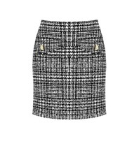 Rinascimento Rinascimento tweed rok met knopen zwart