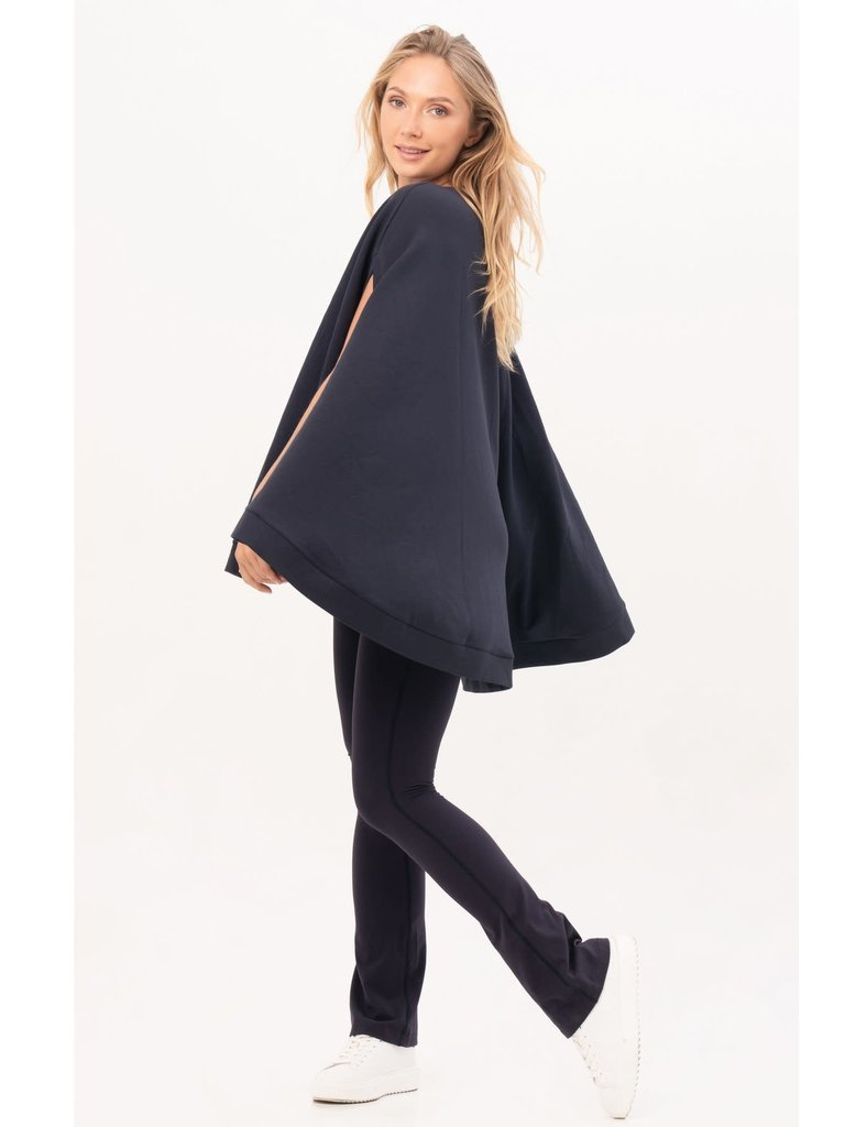 House of Gravity House of Gravity cape poncho donkerblauw