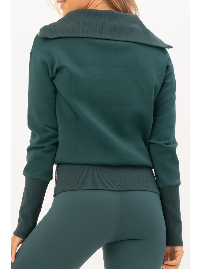 House of Gravity House of Gravity turtle neck sweater emerald green