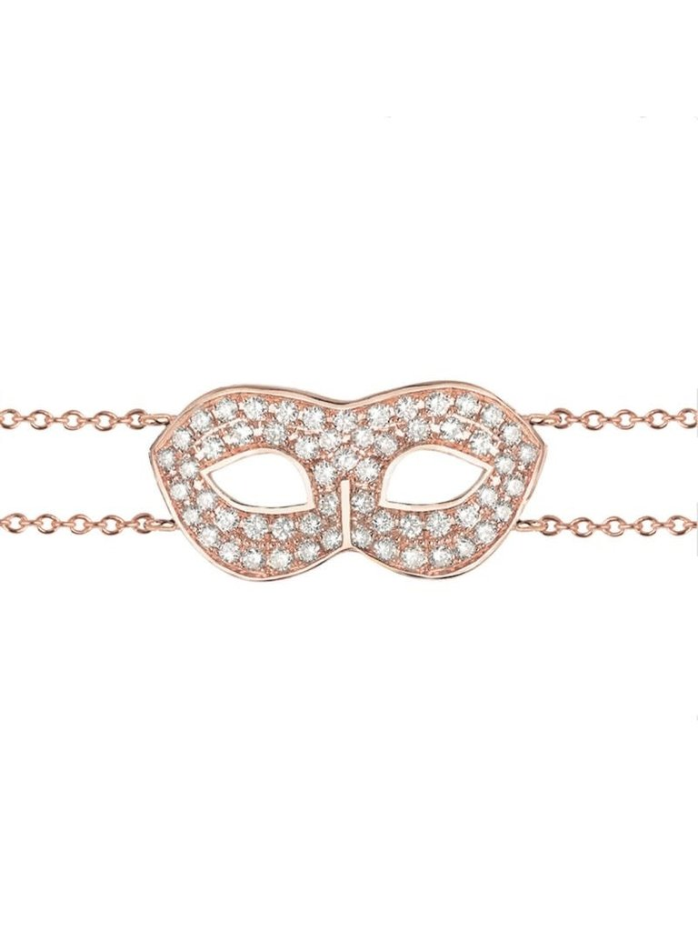 VANESSA TUGENDHAFT Vanessa Tugendhaft mask armband met diamanten roségoud