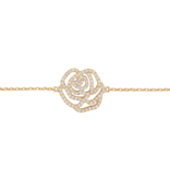 VANESSA TUGENDHAFT Vanessa Tugendhaft rose armband met diamanten geelgoud