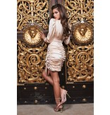 Lavish Alice Lavish Alice Ruby Holley satin wrap dress champagne