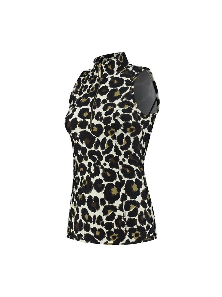 deblon sports Deblon Sports Rosy sleeveless leopard