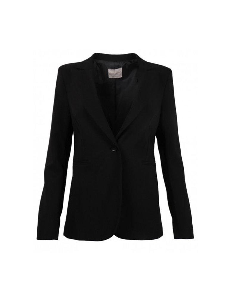 Rinascimento Rinascimento short blazer with black button