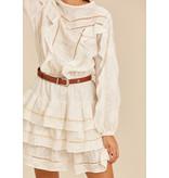 Devotion Devotion short dress ruffle ecru