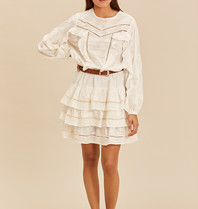 Devotion Devotion sh.dress ruffle ecru