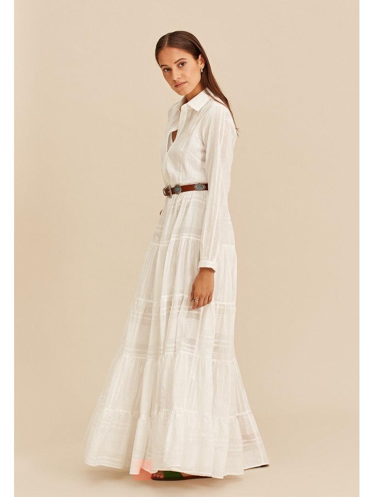 Devotion Devotion long dress ruffle white