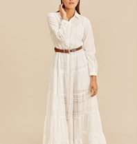 Devotion Devotion long dress ruffle white