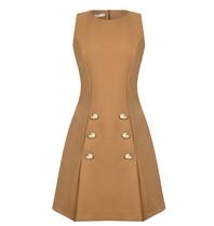 Rinascimento Rinascimento jurk met double-breasted knopen beige