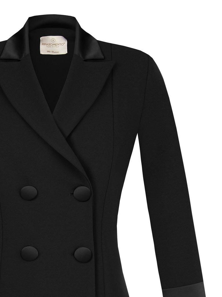 Rinascimento Rinascimento blazerjurk met knopen zwart