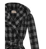 Rinascimento Rinascimento manteljas met ruitenprint grijs zwart