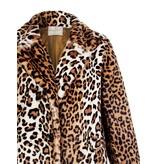 Rinascimento Rinascimento faux fur jas met luipaardprint