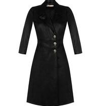 Rinascimento Rinascimento faux leather jurk met knopen zwart