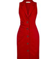 Rinascimento Rinascimento mouwloze blazerjurk met knopen rood