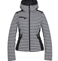 Goldbergh Goldbergh Kate ski jacket with pied-a-poule print black and white