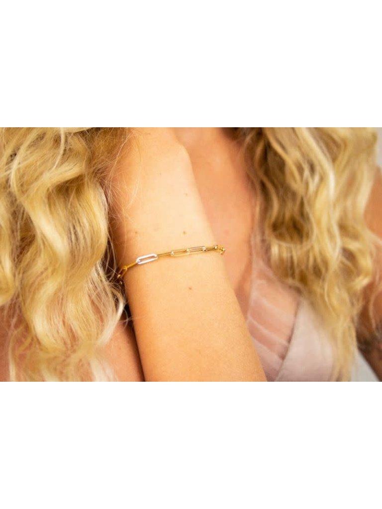 Just Franky Just Franky Charm Bracelet Petite geelgoud