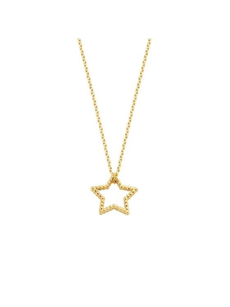 Just Franky Copy of Just Franky Vintage necklace star geelgoud
