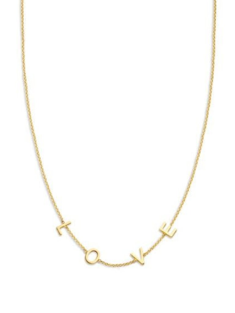 Just Franky Just Franky Love Letter Necklace 4 Initials 39-41cm gold