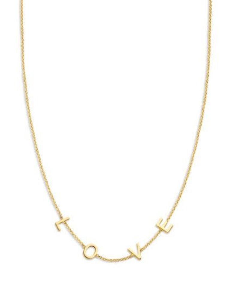 Just Franky Nur Franky Liebesbrief Halskette 4 Initialen 39-41cm Gold