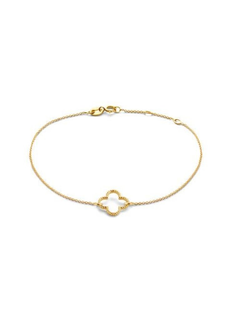 Just Franky Just Franky vintage bracelet clover geelgoud