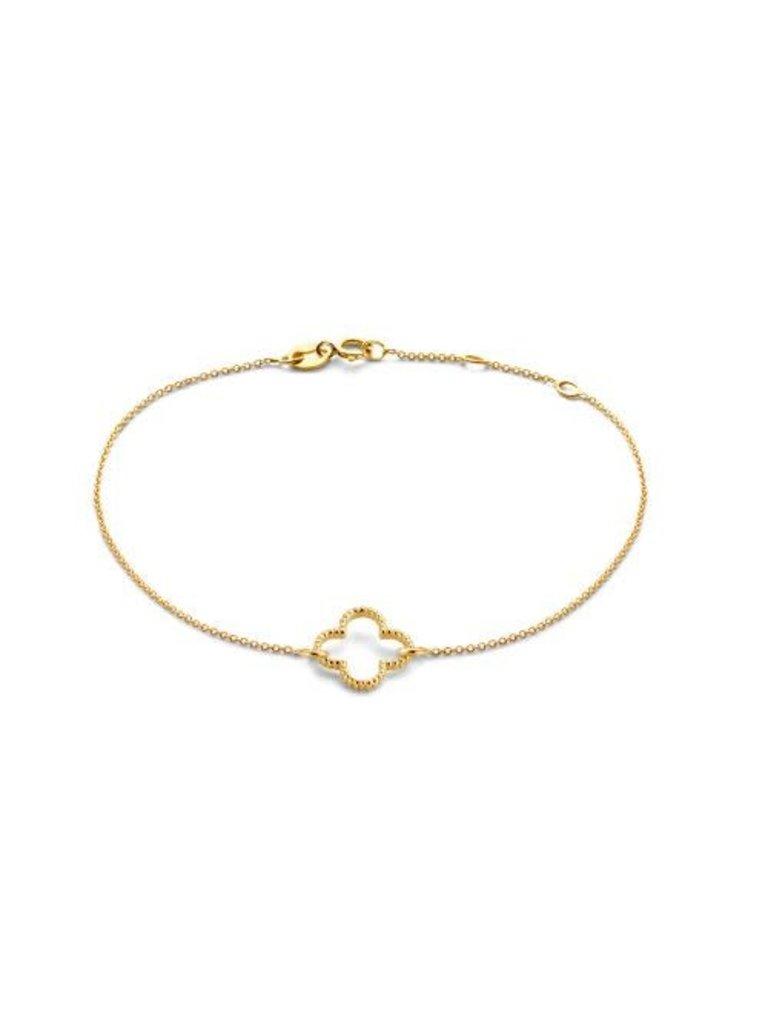 Just Franky Just Franky vintage bracelet clover goud