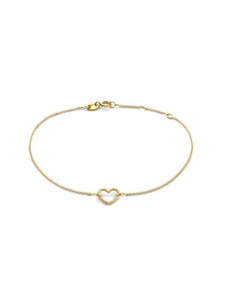 Just Franky Just Franky vintage bracelet heart goud