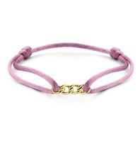 Just Franky Just Franky Chain bracelet silk geelgoud