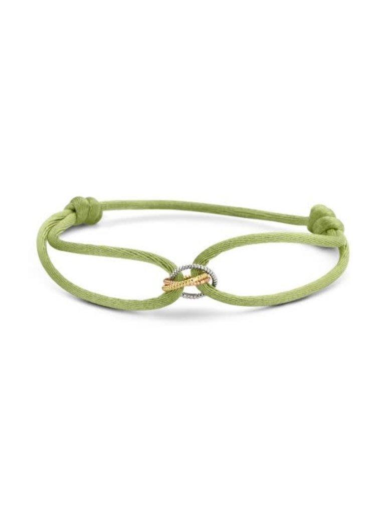 Just Franky Just Franky vintage Triple love cord bracelet geelgoud