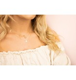 Just Franky Just Franky Vintage necklace round goud