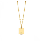 Just Franky Just Franky Mini Tag Necklace balls 50cm gold