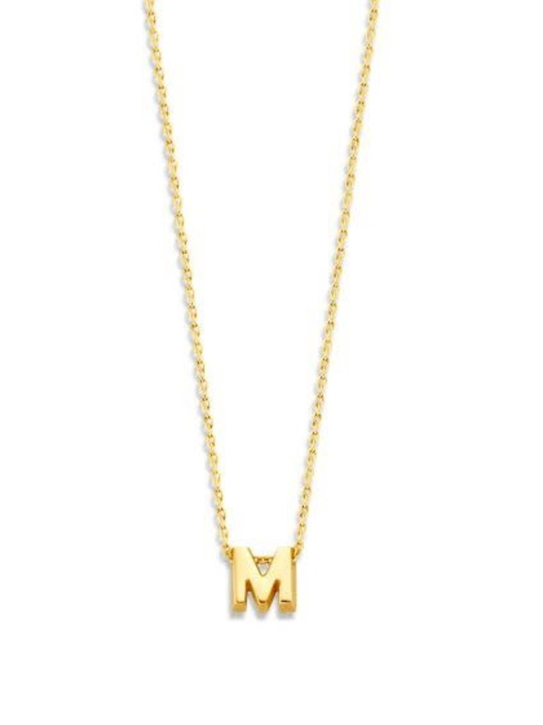 Just Franky Just Franky 1 capital necklace goud