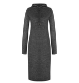 Rinascimento Rinascimento faux fur midi dress with gray hood