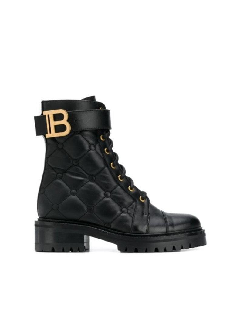 Balmain Balmain gewatteerde combat boots zwart