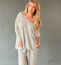 Est'seven Est'Seven Ayden Cashmere sweater grey