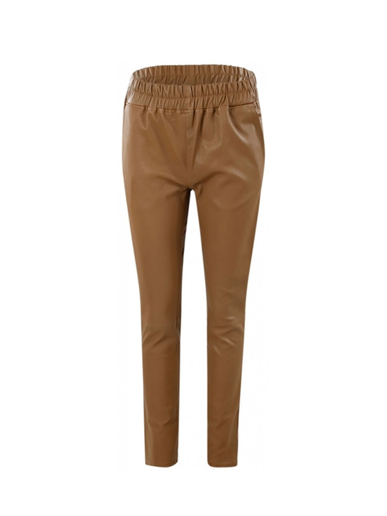Est'seven Est'seven leather boyfriend chino camel