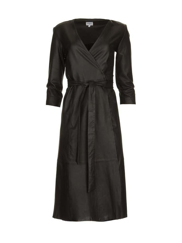 Est'seven Est'Seven Dress met overslag zwart