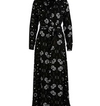 Est'seven Est'Seven Paisley star print rio maxi dress zwart