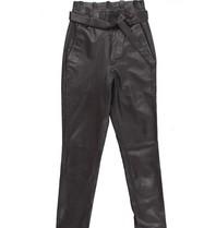 Est'seven Est'Seven leather ruffle pants black