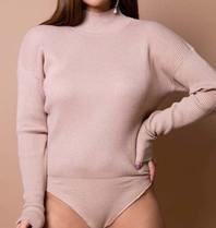 Body by Olcay Body by Olcay knitted turtleneck body warm desert