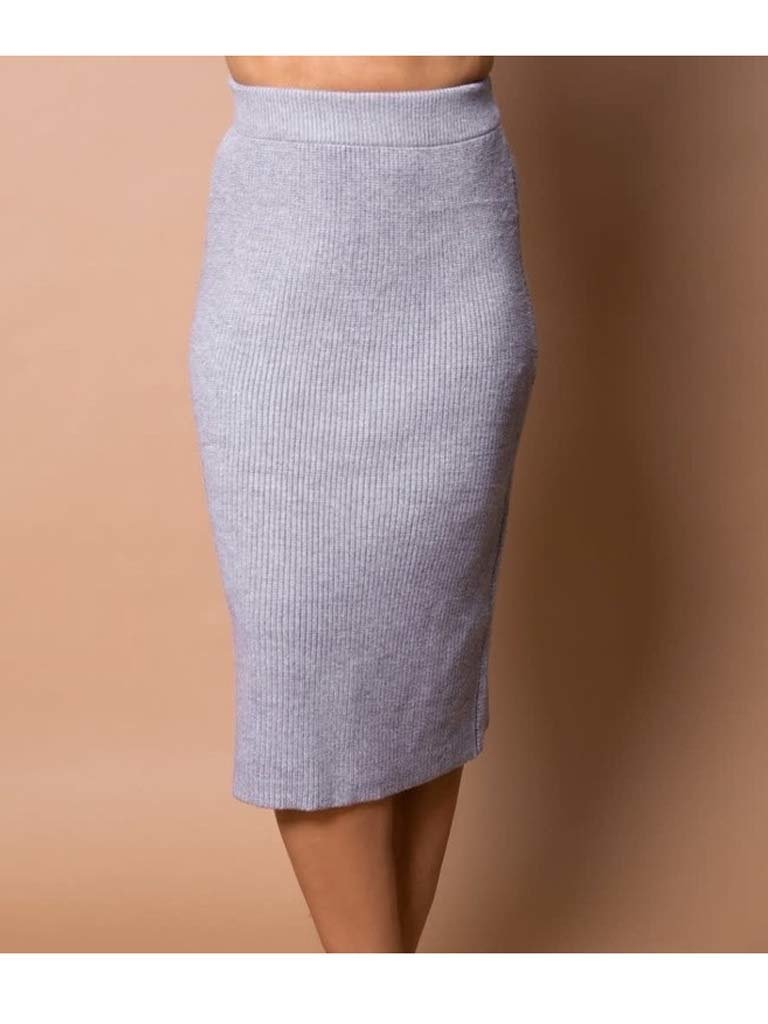 Body by Olcay Body by Olcay knitted skirt light grey melange