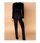 Body by Olcay Body by Olcay velvet legging zwart