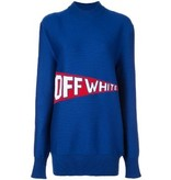 Off-White Off-White Oversized sweater with logo blue