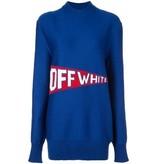 Off-White Off-White Oversized trui met logo blauw