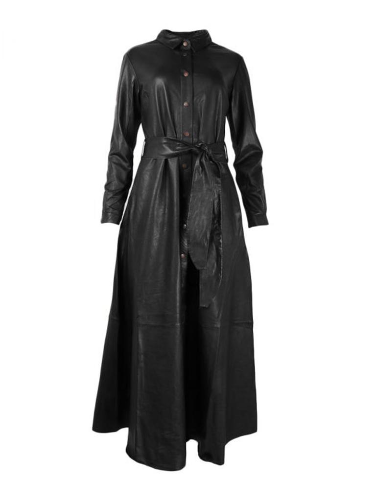 Est'seven Est'Seven button Down Dress zwart